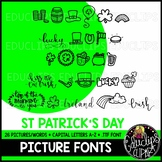 St Patrick's Day Picture Font {Educlips Clipart}