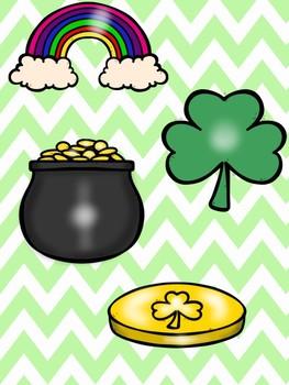 St. Patrick's Day Picture Match File Folder