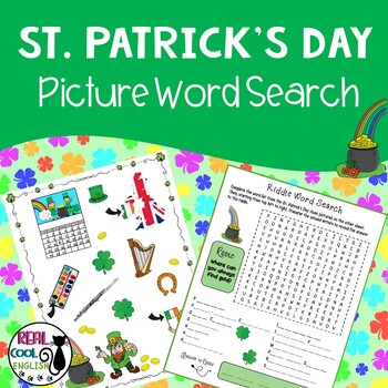 St. Patrick's Day Picture Word Search Puzzle