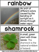St Patrick's Day Picture Word Wall - Real World Photographs