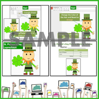 St. Patrick's Day Pictures using Shapes in Google Drive