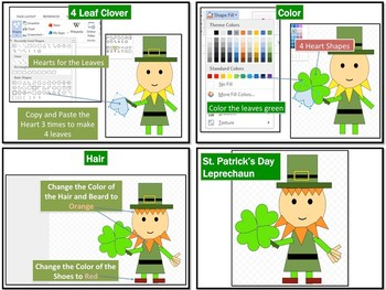 St. Patrick's Day Pictures using Shapes in Microsoft Word