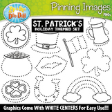 St. Patrick's Day Pinning Images Clipart {Zip-A-Dee-Doo-Dah Designs}