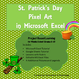 St. Patrick's Day Pixel Art in Microsoft Excel or Google Sheets