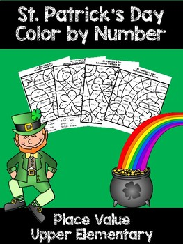 St. Patrick's Day Place Value Color by Number