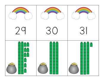 St. Patrick's Day Place Value Match