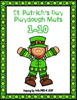 St. Patrick's Day Play Dough Mats