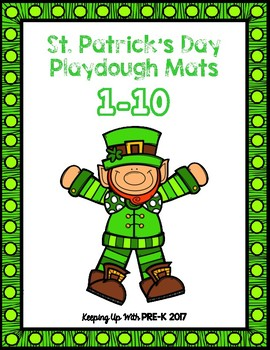 St. Patrick's Day Play Dough Mats