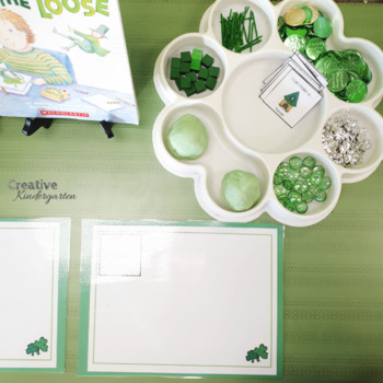 St-Patrick's Day Play Dough Task Cards for Kindergarten