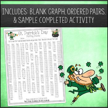 St Patrick's Day Math Activity Plotting Points - Mystery Picture
