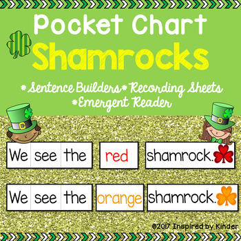 St. Patrick's Day Pocket Chart Sentences and Emergent Reader