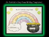 St. Patrick's Day Poem Writing Template!