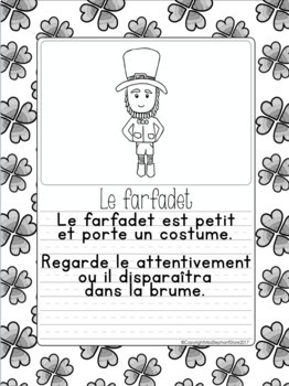 French Writing Prompts - Maternelle (mars) Première Année