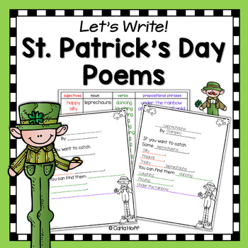 St. Patrick's Day Poetry Writing Frames