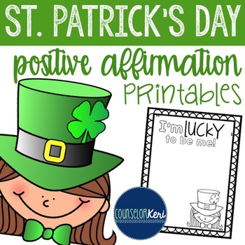 St. Patrick's Day Positive Affirmation Printables - Elementary School Counseling