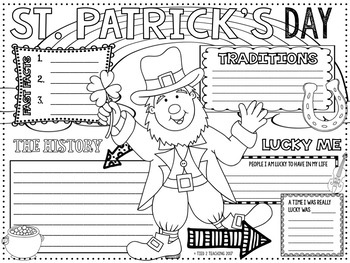 St. Patrick's Day Research and Coloring Poster
