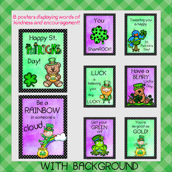 St. Patrick's Day Poster Set - (Words of Kindness and Encouragement)