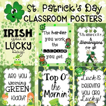 St. Patrick's Day Poster Set for the Classroom