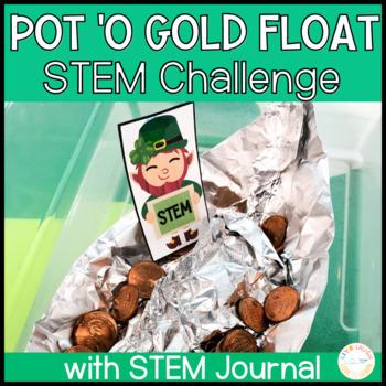 St Patrick's Day Pot 'O Gold Float STEM Challenge