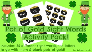St. Patrick's Day Pot of Gold Sight Word Activity
