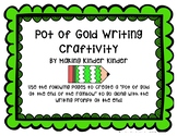 St. Patrick's Day Pot of Gold Writing Craftivity