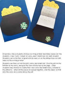 St. Patrick's Day ~ Pot of Gold Writing Craftivity