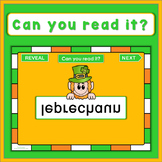 St. Patrick's Day PowerPoint Game, can you read it?