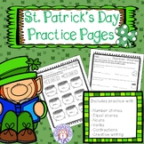 St. Patrick's Day Practice Pages