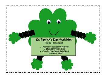 St. Patrick's Day Pre K- 1st Grade Activities