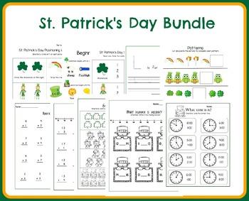 St. Patrick's Day Pre-K/Kindergarten Bundle