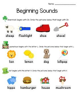 St. Patrick's Day Pre-K/Kindergarten Pack