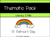St, Patrick's Day Pre-k & Kindergarten Literacy and Math a