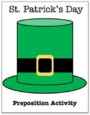 St. Patrick's Day Preposition Activity