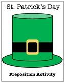 St. Patrick's Day Preposition Activity