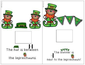 St. Patrick's Day Preposition Interactive Books