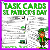 St. Patrick's Day Activity Prepositional Phrases Task Cards