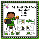 St. Patrick's Day Preschool Number Puzzles