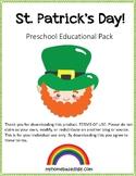 St. Patrick's Day Preschool Activity Pack