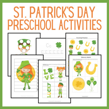 St. Patrick's Day Preschool Learning Pack