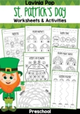 St. Patrick's Day Preschool No Prep Worksheets & Activities