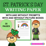 St. Patrick's Day: Primary Writing Paper With Drawing Boxes & Without