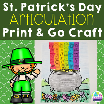 St. Patrick's Day Speech Therapy Craft for Articulation