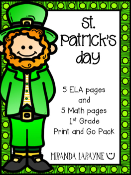 St. Patrick's Day - Print and Go Pack