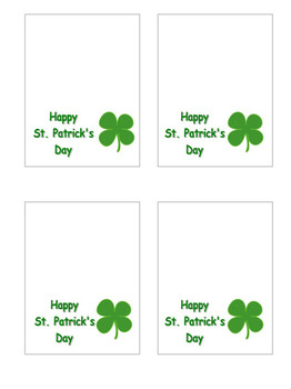 St. Patrick's Day Printable
