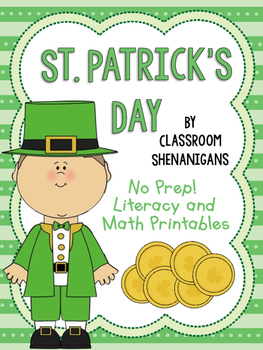 St. Patrick's Day Printable Activities for Literacy and Math