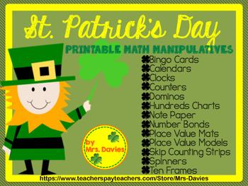 St. Patrick's Day Printable Manipulatives