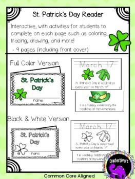 St. Patrick's Day Printable Reader for Kindergarten