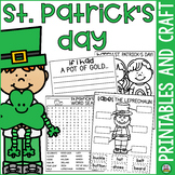 St. Patrick's Day Printables and Craft
