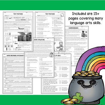 St. Patrick's Day Printables for Language Arts