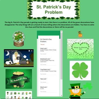 St. Patrick's Day Problem Digital Breakout